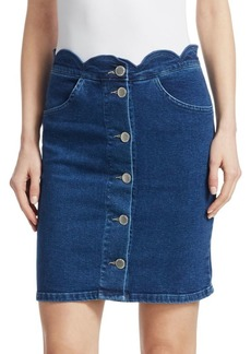 Maje Jaron Denim Skirt