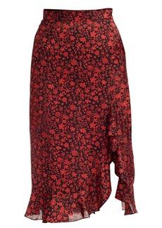 Maje Javie Floral Flounce Skirt
