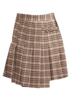 Maje Jilo Houndstooth Pleated Skirt