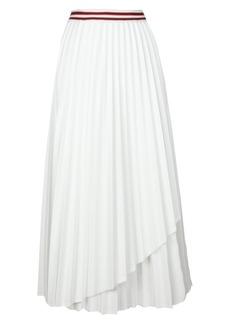 Maje Jouli Pleated Midi Skirt
