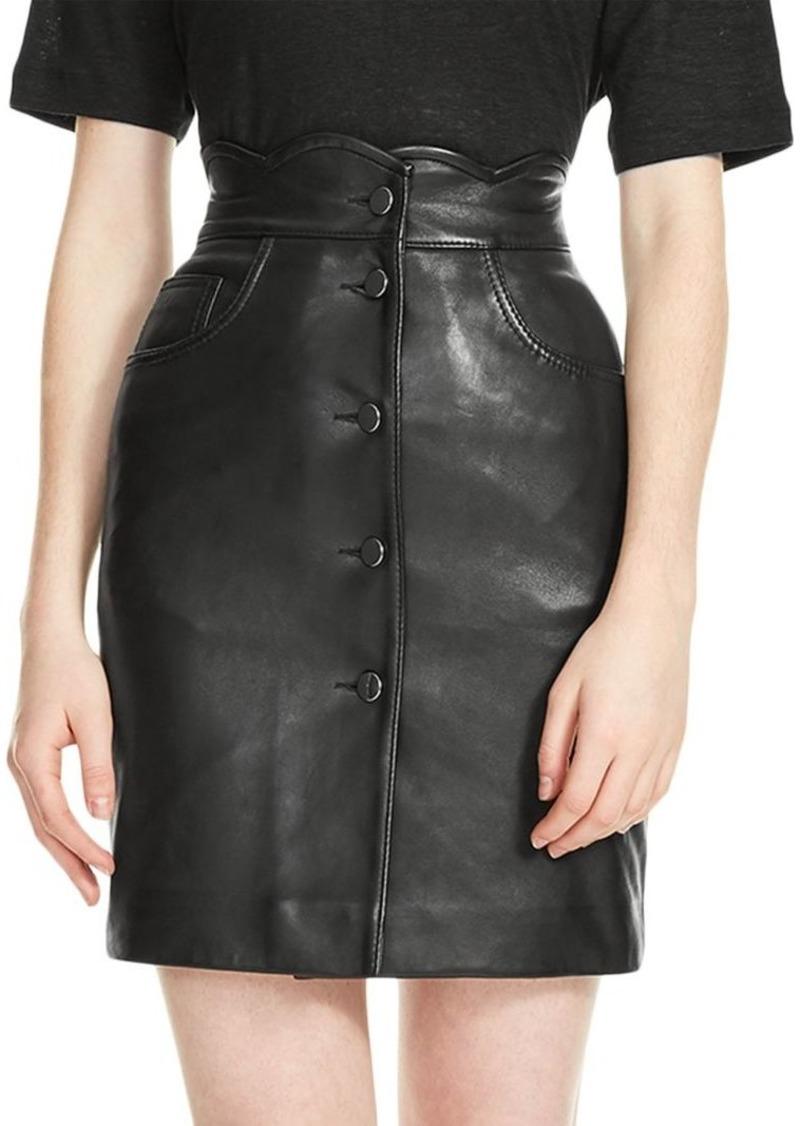 2678afca6 Maje Journey Leather Skirt   Skirts