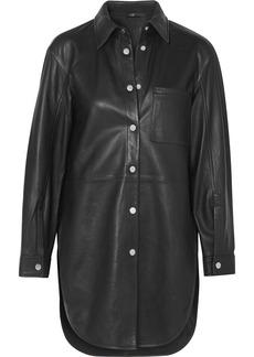 Maje Leather Shirt