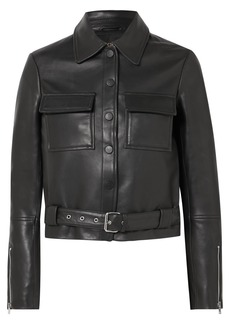 Maje Lizalia Leather Jacket