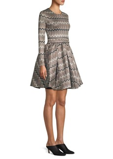 Maje Long Sleeve Fit-And-Flare Dress