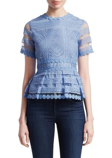 Maje Loseray Peplum Lace Top