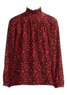 Maje Lou Floral Silk Blouse