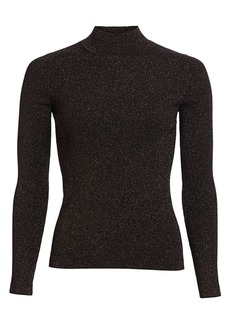 Maje Maddie Metallic Turtleneck Sweater