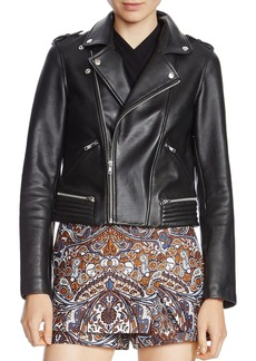 MAJE Basalt Leather Biker Jacket