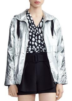 Maje Boomer Metallic Windbreaker Jacket