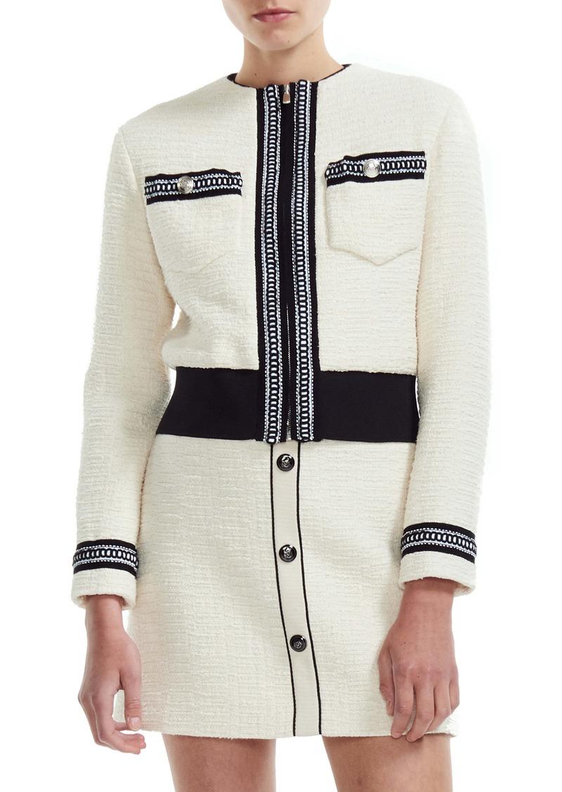 maje Boppy Cotton Tweed Jacket