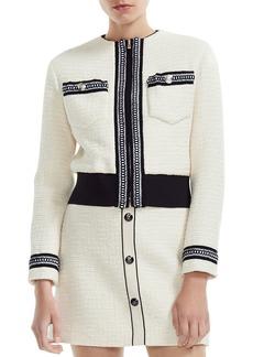 Maje Boppy Cropped Tweed Jacket