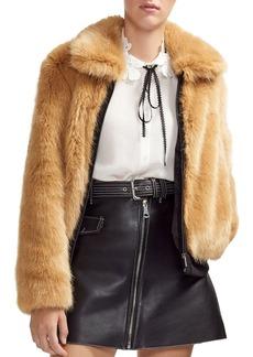 Maje Brox Faux-Fur Jacket