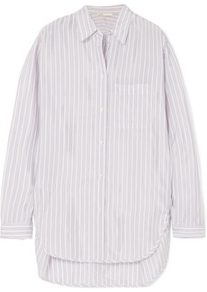 Maje Celina Striped Satin Shirt