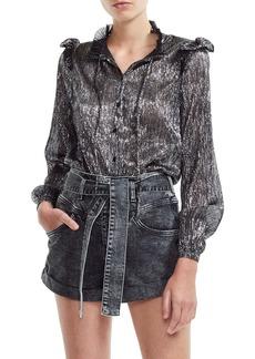maje Clunny Metallic Shirt
