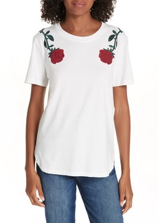 maje Embroidered Tee