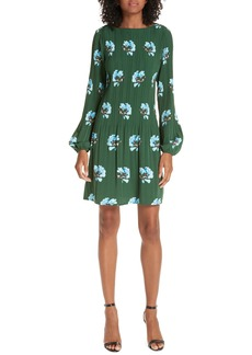 maje Floral Print Pleat Dress
