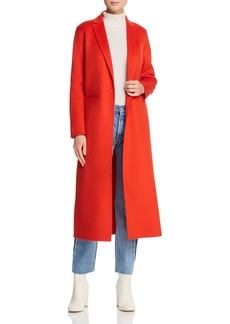 Maje Galaxia Single-Button Long-Line Coat