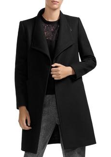 Maje Galipo Asymmetric-Front Coat