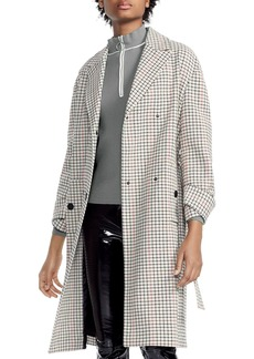 Maje Gessia Checked Trench Coat