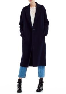 maje Gina Wool Blend Long Coat