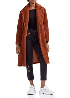 Maje Gourson Teddy Faux-Fur Coat