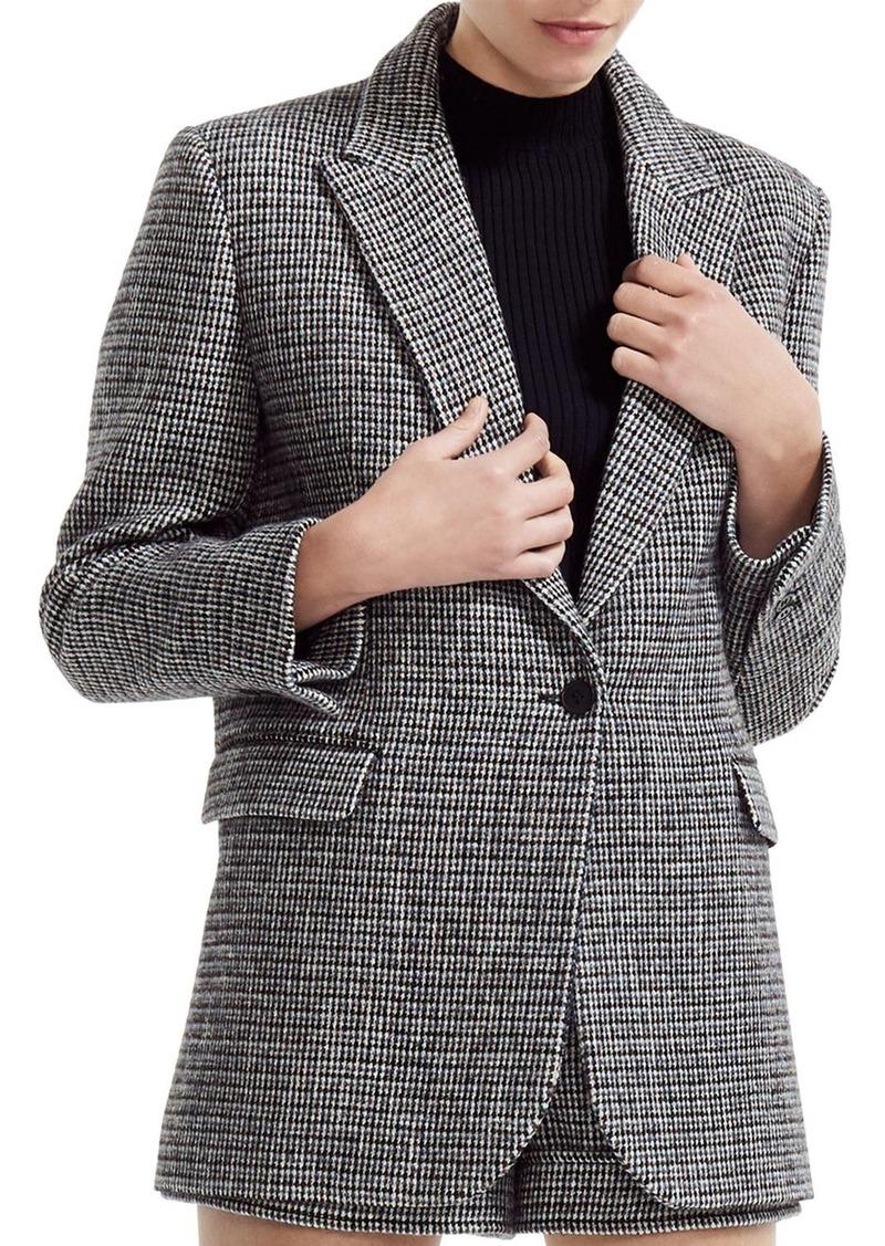 Maje Gregor Single-Button Tweed Blazer