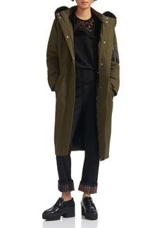 Maje Groomy Faux-Fur Trimmed Coat