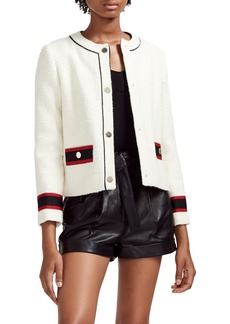 maje Grosgrain Trim Jacket