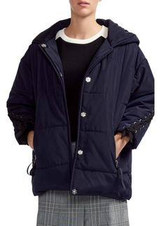 maje Guelone Hooded Quilted Parka
