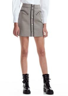 maje Houndstooth Check Miniskirt