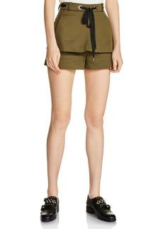 Maje Ipolyte Double-Layer Mini Shorts