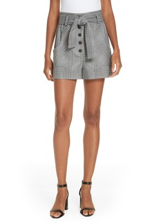 maje Iraime Plaid shorts