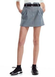 maje Jadie Belted Miniskirt