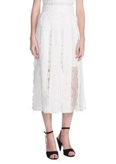 maje Janila Lace Midi Skirt