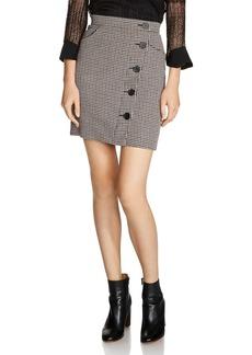 Maje Jasali Houndstooth Mini Skirt