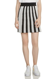 Maje Jasper Striped Knit Skirt