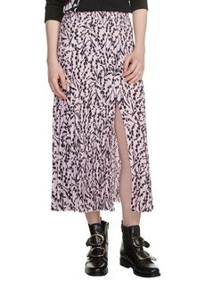 maje Javina Pleated Midi Skirt