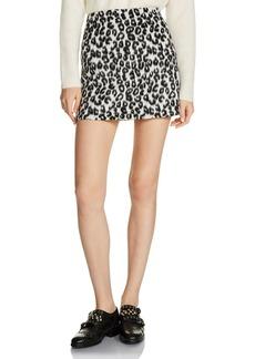 Maje Jazara Leopard Mini Skirt