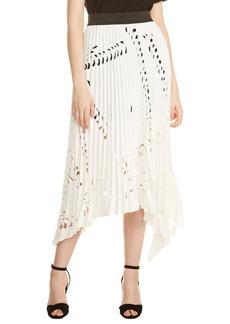 maje Jeflexe Cutout Pleat Midi Skirt