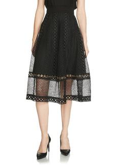 Maje Jenner Lace Midi Skirt