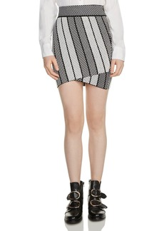 Maje Jessy Knit Mini Skirt