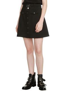 maje Jibrali Snap Mini Skirt