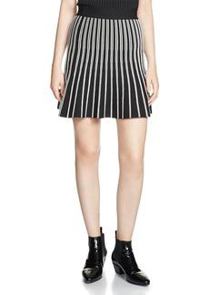 Maje Jibraltar Striped Knit Skirt