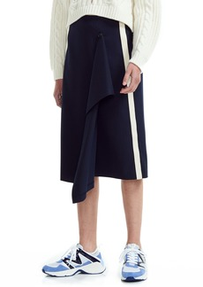 maje Jidaia Side Stripe Asymmetrical Skirt