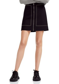 Maje Jimage Studded A-Line Mini Skirt