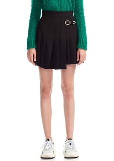 maje Jino Buckle Detail Skater Miniskirt