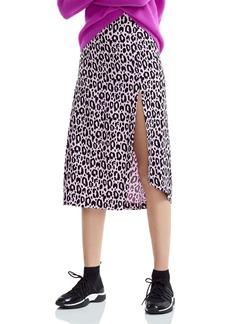 Maje Jipanta Leopard-Print Midi Skirt