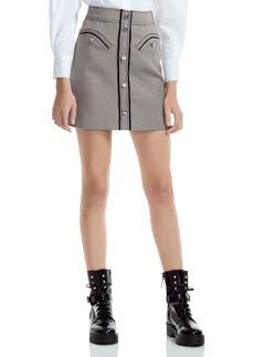 Maje Joldi Houndstooth Mini Skirt