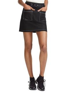 Maje Jombi Contrast Topstitched Mini Skirt