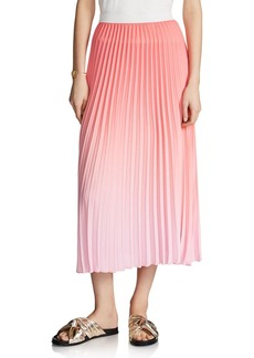 Maje Jonaelle Ombr� Pleated Skirt